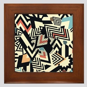 Abstract Pattern Framed Tile
