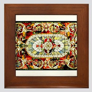 Regal-Splendor-Stained-Glass-Design Framed Tile