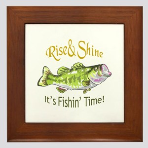 RISE AND SHINE FISHING TIME Framed Tile