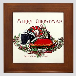 Scottish Terrier Christmas Elf Framed Tile