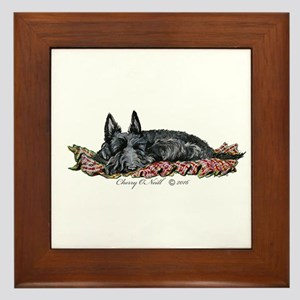 Scottie Slumber Framed Tile