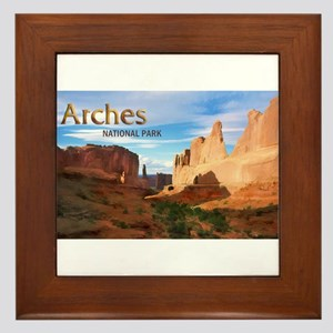 Park Avenue at Arches National Park PO Framed Tile