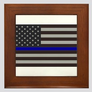 Blue Lives Matter Framed Tile