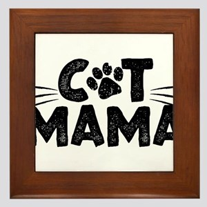 Cat Mama Framed Tile