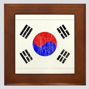 South Korea Flag Framed Tile