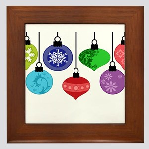 Christmas Ornaments Framed Tile