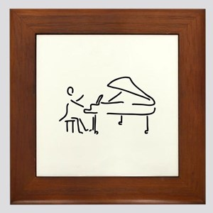 pianist piano player wing Framed Tile
