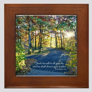Direct your paths... Framed Tile