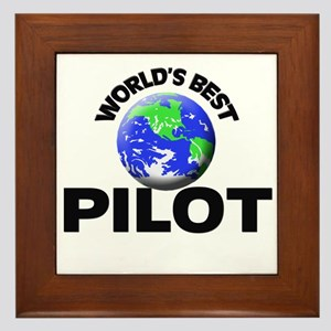 World's Best Pilot Framed Tile
