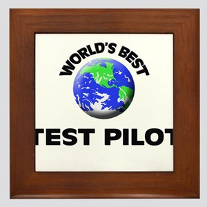 World's Best Test Pilot Framed Tile