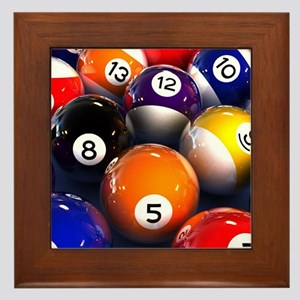 Billiard Balls Framed Tile