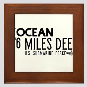 The Ocean is 6 Miles Deep Framed Tile