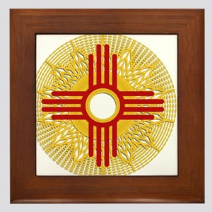 SUNBURST ZIA Framed Tile