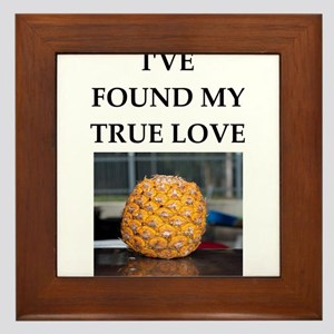 pineapple Framed Tile