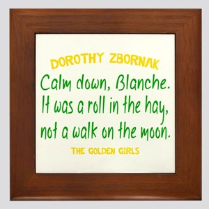 Dorothy Quote Roll in the Hay Framed Tile