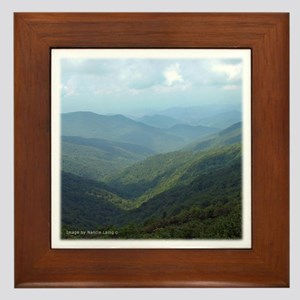 Blue Ridge Moutians Cragy Gardens NC Framed Tile