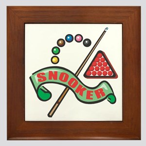 Snooker Pool Design Framed Tile
