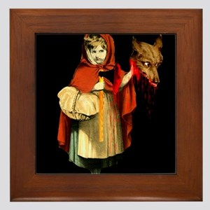 Little Red Riding Hood Gets Revenge Framed Tile