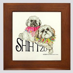 Two Shih Tzu! Framed Tile