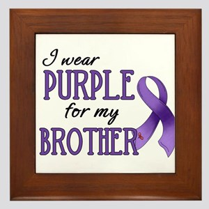 Wear Purple - Brother Framed Tile