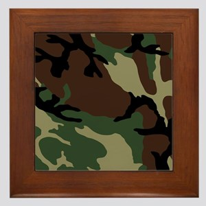 Camouflage Pattern Framed Tile