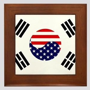 Korean-American Flag Framed Tile