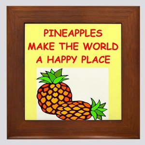 pineapples Framed Tile