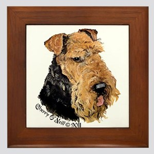 Airedale Terrier Good Dog Framed Tile
