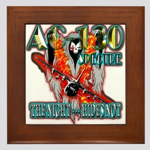 AC-130 Spectre The Night Hides Not Framed Tile