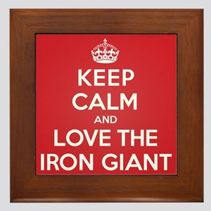 K C Love the Iron Giant Framed Tile