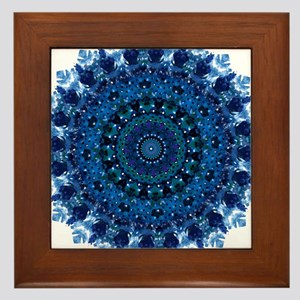 Dotty Love Mandala Kaleidoscope Framed Tile