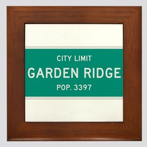 Garden Ridge, Texas City Limits Framed Tile