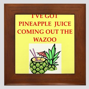 pineapple juice Framed Tile