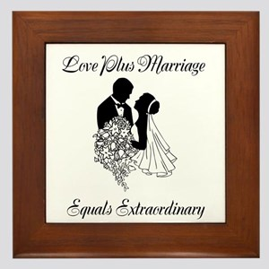 Love Plus Marriage... Framed Tile