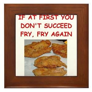 Fried Chicken Joke Framed Tile - roblox chicken nugget decal id