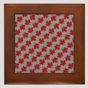 Canadian Maple Pattern Framed Tile