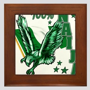 100% Naija Framed Tile