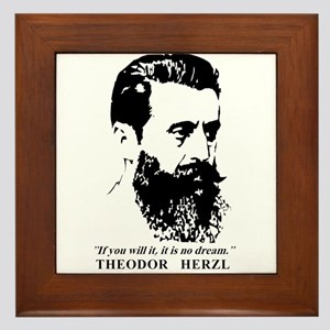 Theodor Herzl - Israel Quote Framed Tile