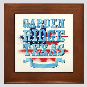 Garden Ridge Texas Framed Tile