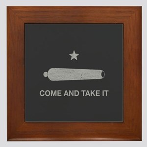 Come And Take It Framed Tile
