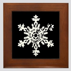 Big Snowflake Framed Tile