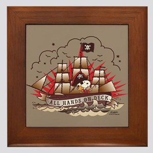 Peanuts All Hands on Deck Framed Tile