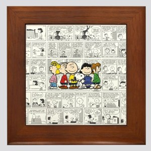 The Peanuts Gang Framed Tile