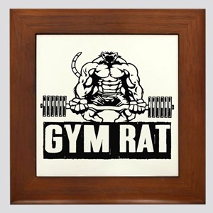 Gym Rat Framed Tile