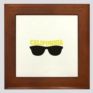 yellow cali shades Framed Tile