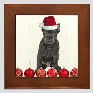 Christmas Cane Corso Puppy Framed Tile