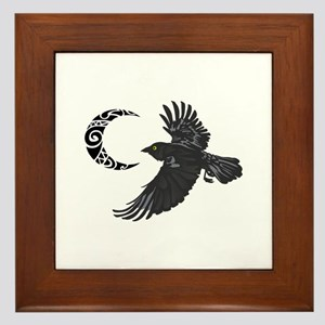 RAVEN AND MOON Framed Tile