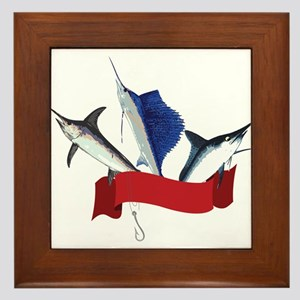 Marlin Fish Framed Tile