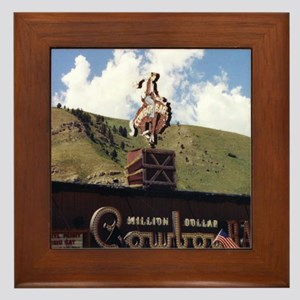 Million Dollar Cowboy Bar Framed Tile