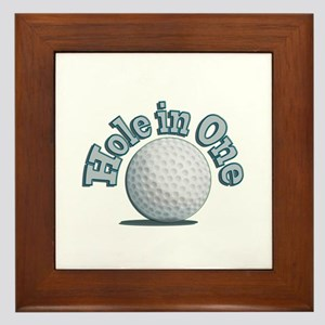 Hole in One (txt) Framed Tile